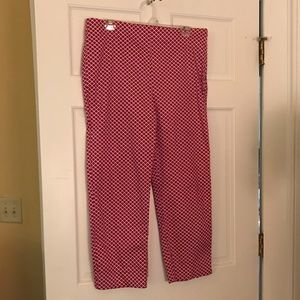 Talbots Heritage hot pink ankle pants!
